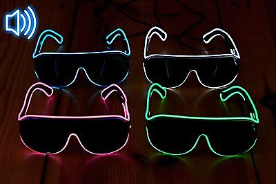 Soundsensitive El-Wire Party- und Clubbrille Blinkbrille Leuchtbrille LED ©Ucult