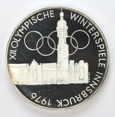 1975 H Austria Silver 100 Schilling Building and Olympic KM2927 - SPR #01307944g