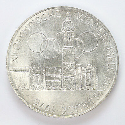 1975 H Austria Silver 100 Schilling Building and Olympic KM2927 - Unc #01307946g