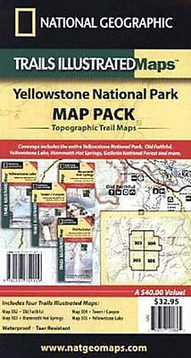Yellowstone National Park, Map Pack Bundle National Geographic Maps