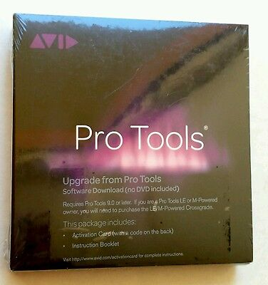 Avid Pro Tools Upgrade from 9  Activation Card & iLOK 2