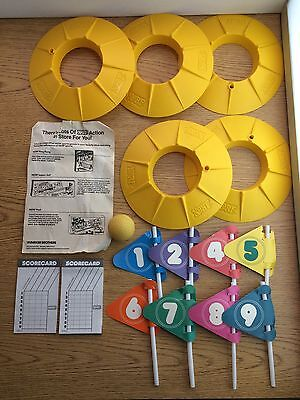 Vintage 1987 Parker Brothers Nerf Indoor Golf Game w/ Holes, Ball, Flags, Etc.