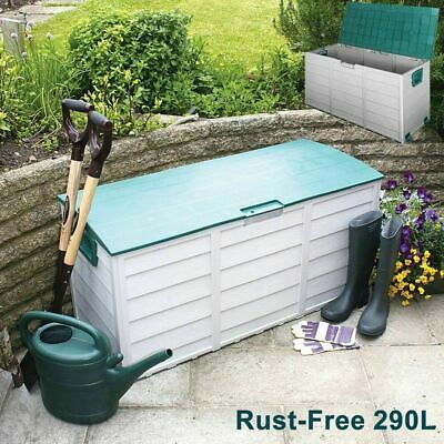 Outdoor Storage Box 290L Plastic Container Weatherproof Toy Boxes Garage space