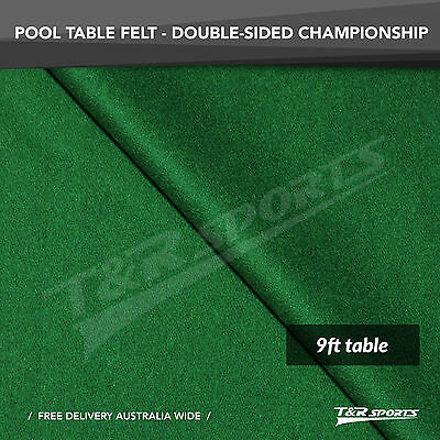 Championship Green Double-sided Wool Pool Snooker Table Top Cloth Felt for 9""