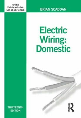 Electric Wiring for Domestic Installers (Electric W..., Scaddan, Brian Paperback