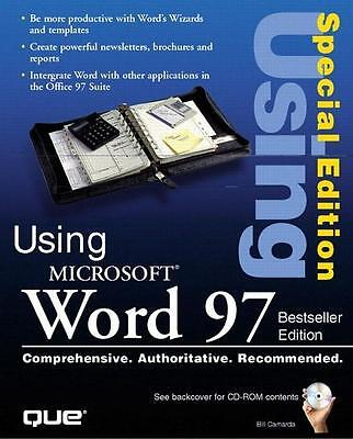 Using Microsoft Word 97 Special Edition Ron Person