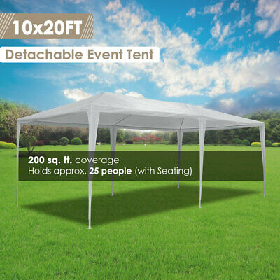 20'x10' Outdoor Party Wedding Tent Patio Heavy Duty Canopy Pavilion Cater Events