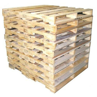 "10 Recycled Wood Pallets - 48"" x 40"" 4-Way Pallet Fast Shipping"