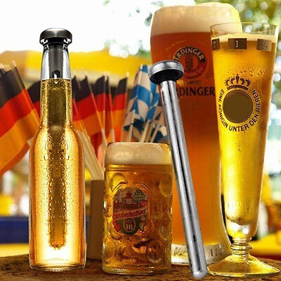 2pcs Hot Sale Stainless Steel Beer Chiller Stick Ice Cold Cooler Chilling Rod RI