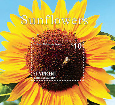 St. Vincent & The Grenadines -2014-Flowers-Sunflowers