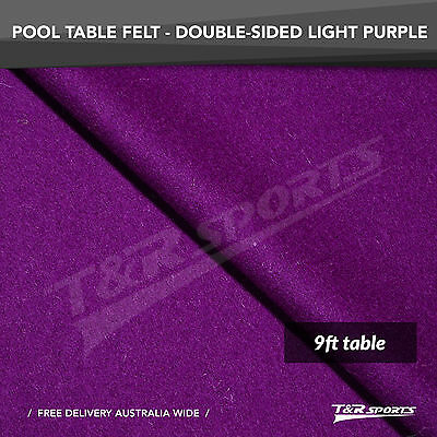 New! Light Purple Double-Sided Wool Pool Snooker Table Cloth/felt Suits 9''