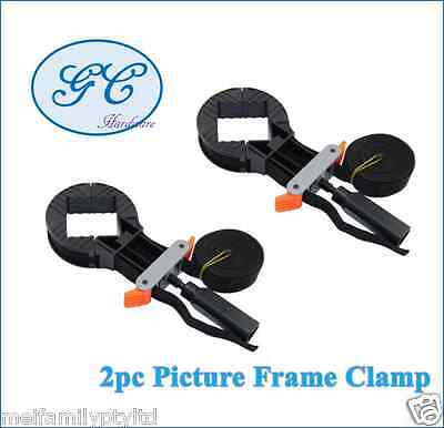 2 pc Picture Frame Clamp, Rapid Corner Clamp Band Strap, Woodworking Mirror Tool