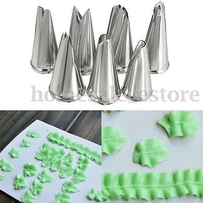 7pcs Leaves Nozzle Stainless Steel Icing Piping Nozzle Pastry Tips Pastry ToECU