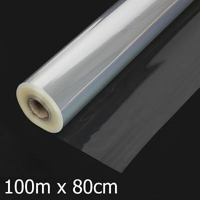 New 100Mx80Cm Plain Clear Florist & Craft Cellophane Roll Film Hamper Gift Wrap