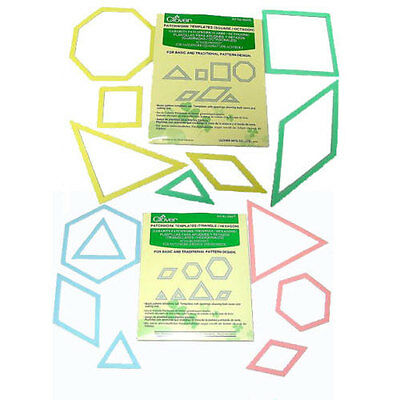 Clover Quilting / Patchwork Templates - Choice of 14 Shapes (Packs of 7)