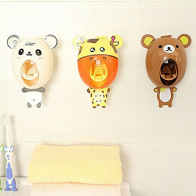 Automatic Cartoon Cute Animal Hands Free Toothpaste Dispenser Squeezer Comfy