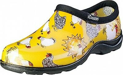 Sloggers Chicken Print Collection Women's Rain and Garden Shoe, Size6