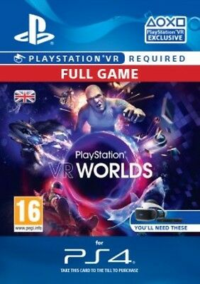 PlayStation VR Worlds FULL GAME DLC PS4 -  Same Day Dispatch