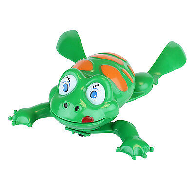 Water Swimming Frog Clockwork Wind Up Plastic Bath Time for Baby Kids Gift Xmas