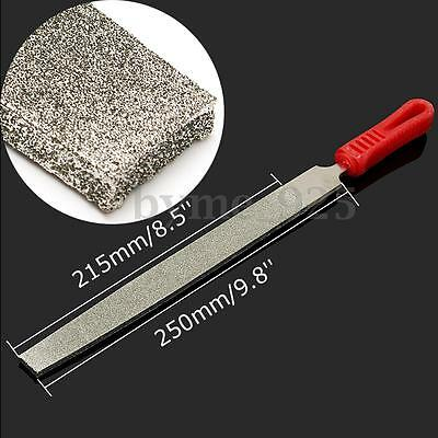 10'' 250mm Long 60 Grit Coarse Diamond Coated Flat File For Stone Glass Metal