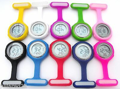 Digital Multi Function Silicone Nurses/Brooch/Tunic/Fob/Pocket/Carabiner Watch