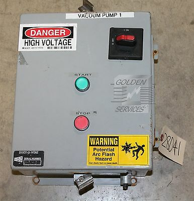 SCE LR97418 Industrial Control Panel Enclosure Type 12 & 4 with ABB A16-30-10 Co