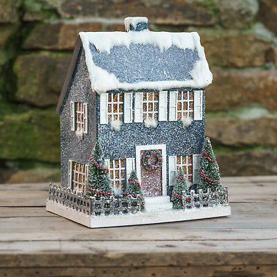 Ragon House Collection Lighted Saltbox House Decorative Accents