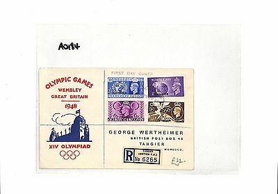 AO184 1948 MOROCCO AGENCIES Tangier FDC Olympic Games