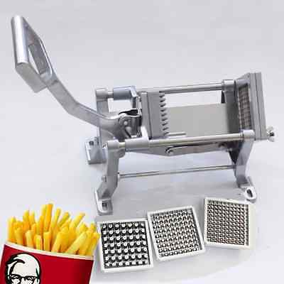 Stainless Home Potato Chipper French Fries Carrot Cutter Chopper 3Blades DR cafe