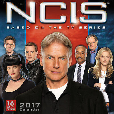 NEW 2017 NCIS Military Criminal Investigations 16-Month TV Series Wall Calendar