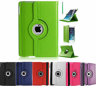 PU Leather 360 Degree Rotating Smart Stand Case Cover Fit For Apple iPad Air 2