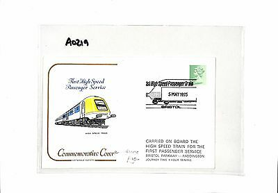 AO219 1975 GB Commemorative Cover. First High Speed Passenger Service