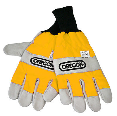 Brand New Oregon 295399L Chainsaw Gloves Both Hand Protection  Large Size 10