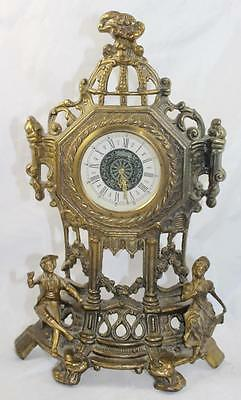 Ornate Brassed Antique Style Mantle Clock