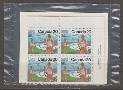 CANADA #682 20¢ Olympic Ceremonies Sealed Plate Blocks MNH