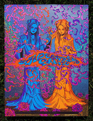 Widespread Panic Dallas 2015 Poster James Flames S/N Sparkle HoloFoil Variant