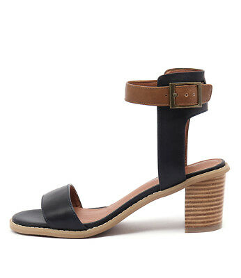 New I Love Billy Quentins Navy Tan Womens Shoes Casual Sandals Heeled