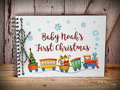 Personalised Baby's First Christmas Photo Album/Scrapbook, New Baby Gift Idea
