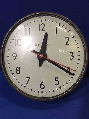 """10"""" Simplex Slave Clock Schoolhouse Electric Hanging Wall Glass Face 507-042"""