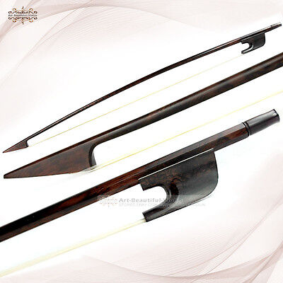 Master Old French Baroque Style Antique Snakewood Double Bass Bow Stiff 107g