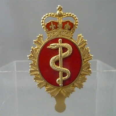 CANADIAN FORCES MEDICAL SERVICES Brass Cap Badge