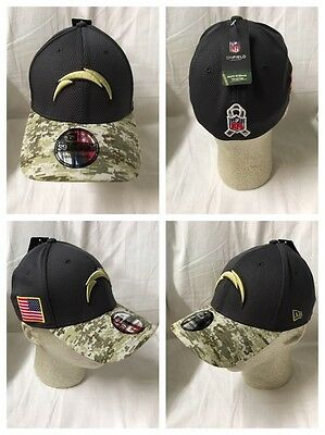 29cad1577 San Diego Chargers 2016 New Era 39Thirty OFFICIAL Sideline Salute to  Service Hat