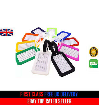 Same Colour Holiday Luggage Baggage Tags Labels Name Address Suitcase Bag Travel