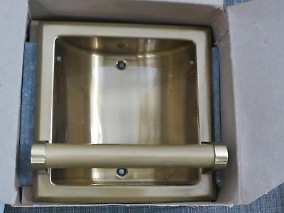 Hall Mack American Classics Brass Recessed Soap & Grab Bar New Vintage 60's /W9