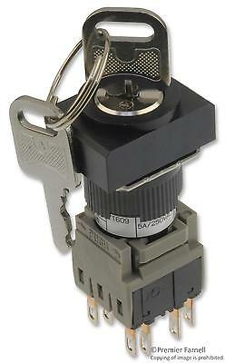 Te Connectivity / Alcoswitch 164J2A22 Switch Key Operated 2No/2Nc 5A 250V