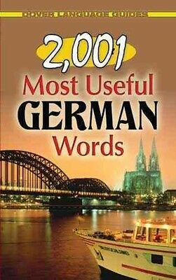 2,001 Most Useful German Words by M. Charlotte Wolf Paperback Book (English)