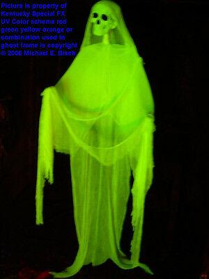18 ft gutter ghost spirit halloween hanging decoration for Animated floating ghost decoration