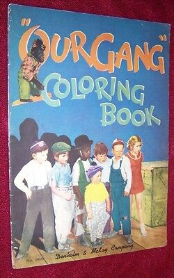"Original 1933 ""our Gang"" Color Folio Comic Book, Popular Tv Characters, Nice 1St"