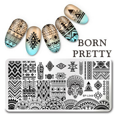 BORN PRETTY Nail Art Stamp Plate  Image Template Ethnic Pattern BP-L048