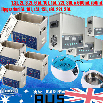 Digital Ultrasonic Cleaner Stainless Steel Heater Timer Industrial Grade A+++ AU